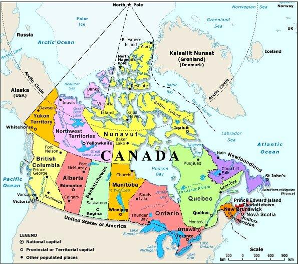 Political Map Of Canada - Political map of alaska